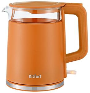 Чайник электрический Kitfort KT-6124-4 оранжевый