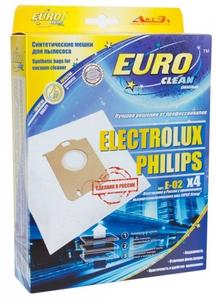 Мешок-пылесборник Euro clean арт.E-02/4 шт. Тип Electolux S-Bag. Синтетический, многослойный, повышенной фильтрации. Сделано в России. Новинка 2015!