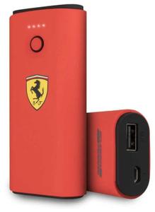 Портативное ЗУ Ferrari Rubber 5000 mAh красный