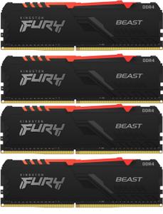 Оперативная память Kingston FURY Beast RGB [KF436C17BBAK4/32] 32 Гб DDR4