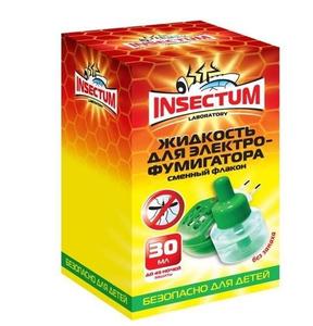 Жидкость от комаров для электрофумигаторов 30мл 45ночей Insectum Laboratory