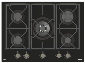Газовая варочная панель Korting HGG 7987 CTN FLC черный
