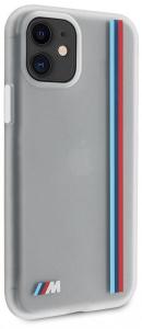 Чехол BMW для iPhone 11 M-Collection Translucent silicone Vert stripe Hard Transp