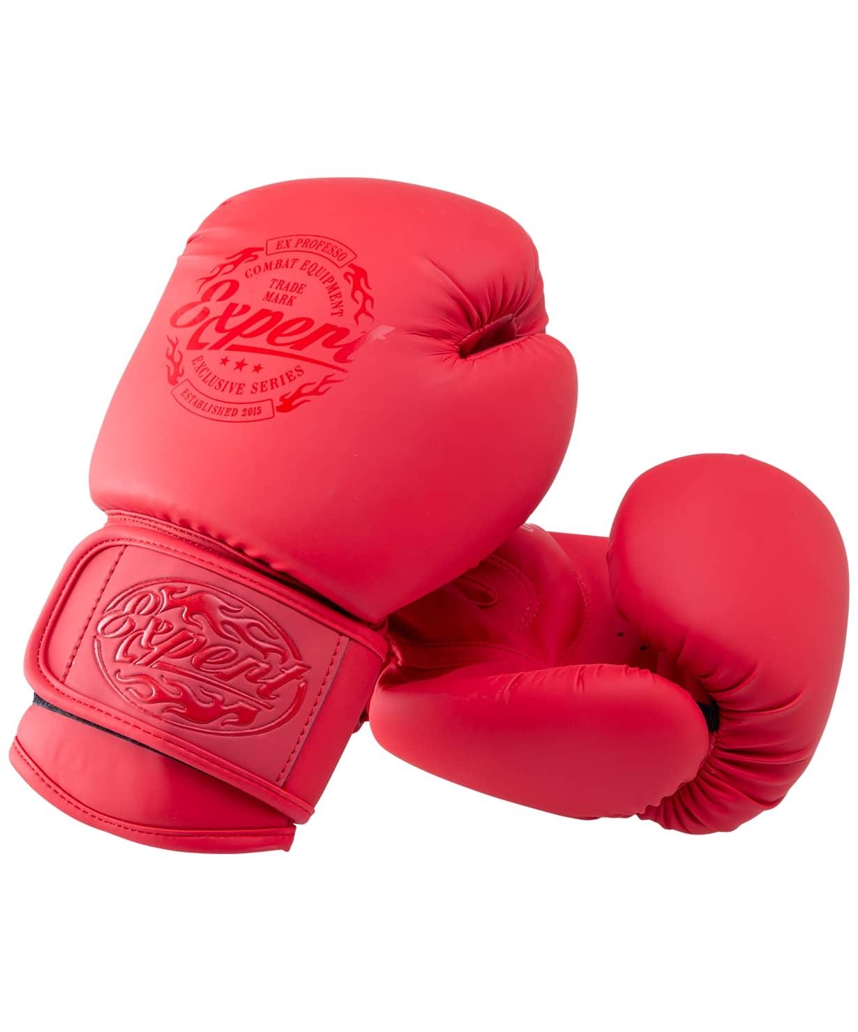 Перчатки боксерские BGS-V012, красный, 12 oz