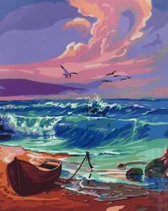 "Картина по номерам на холсте 40х50 ""Морской пейзаж"""