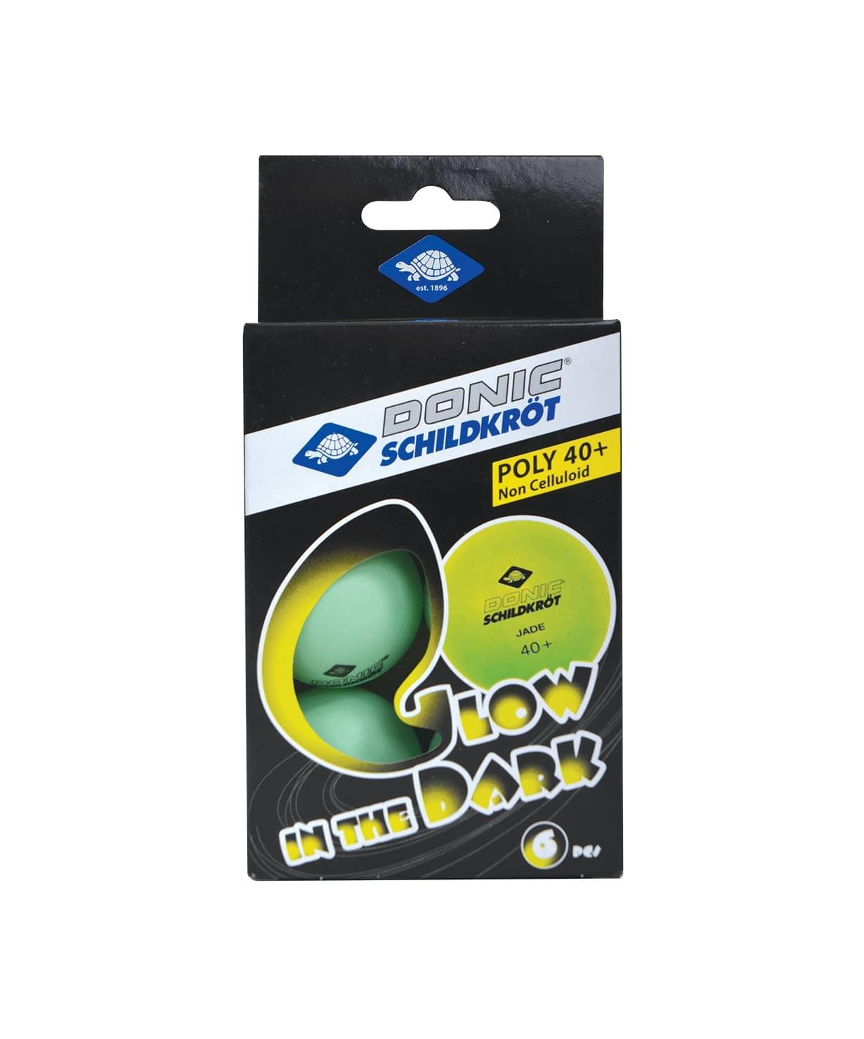 Мяч для настольного тенниса Glow in the dark, 6 шт.