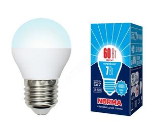 """Лампа светодиодная LED-G45-7W/NW/E2 7/FR/NR  Форма """"шар"""", матовая. Серия Norma 4000K"""