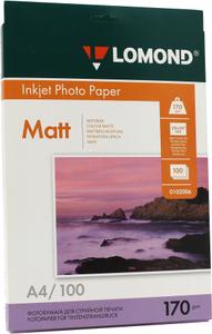 LOMOND 0102006 (A4, 100 листов, 170 г / м2) бумага матовая двусторонняя