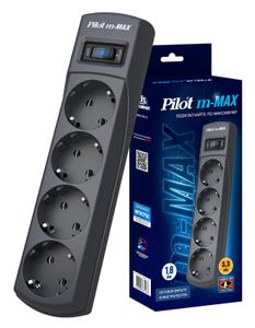 Сетевой фильтр PILOT m-MAX, 1.8м, серый