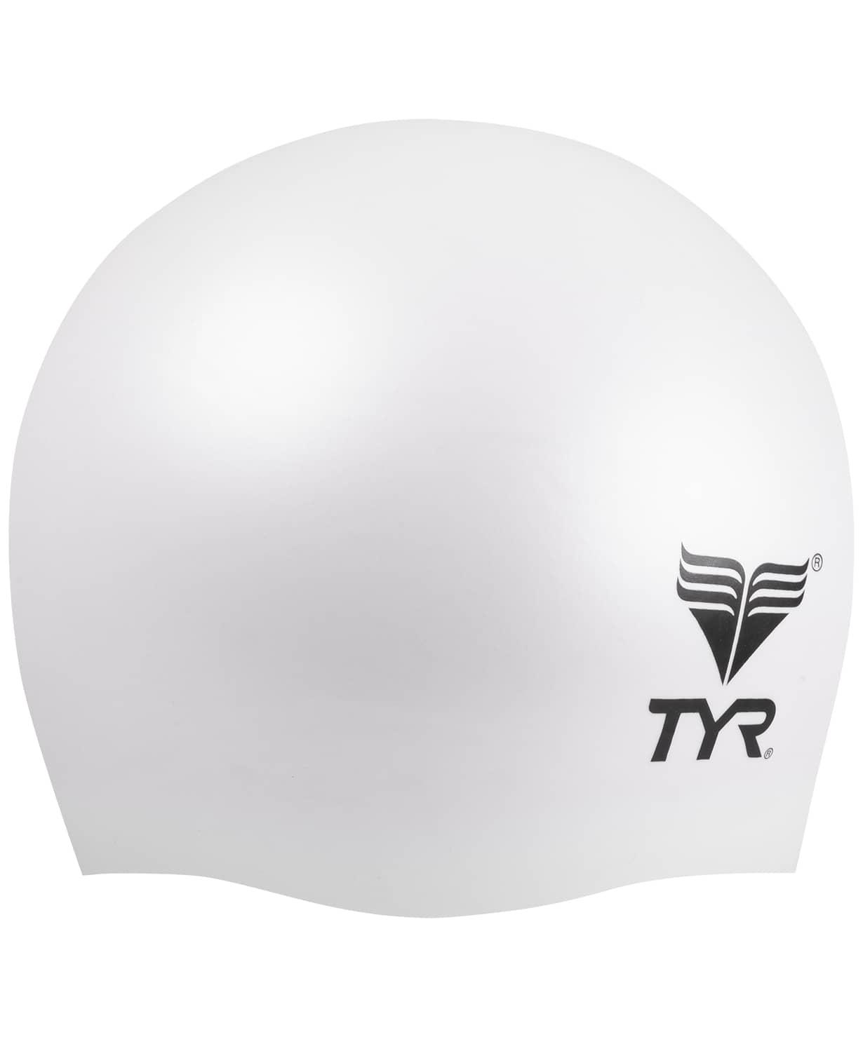 Шапочка плавательная Wrinkle Free Junior Silicone Cap, силикон, LCSJR/100, белый