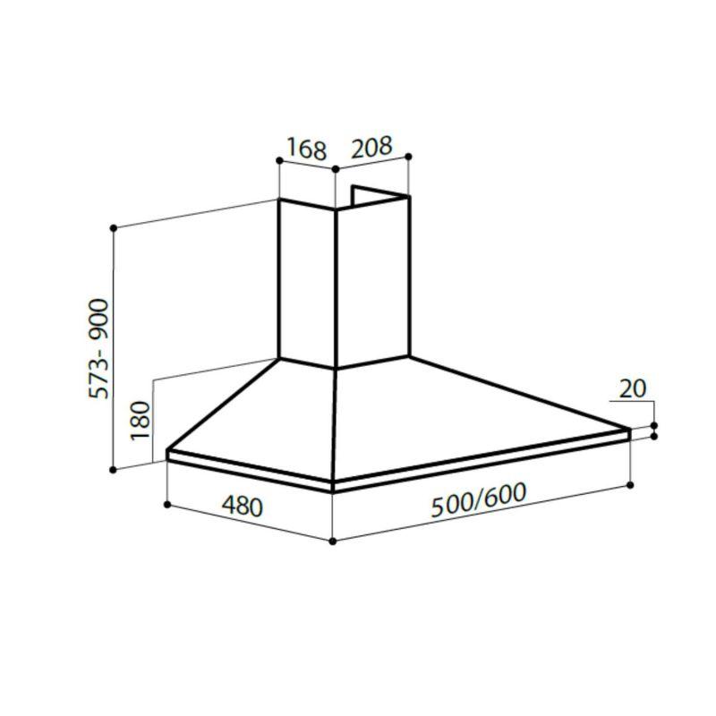 Вытяжка каминная LEX Basic 600 WH белый