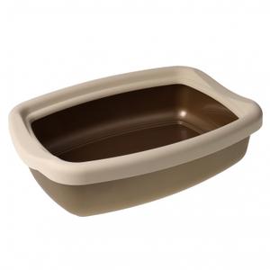 """Туалет для кошек с бортиком """"Твик"""" 31*42*11 Бронзовый"""