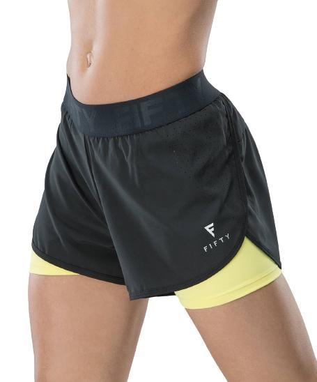 Женские спортивные шорты Duo Shape black/yellow FA-WS-0103-BYL, черный/желтый