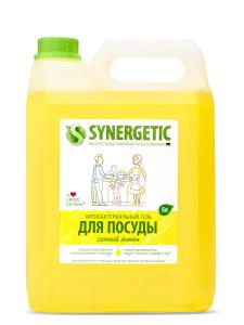 Средство для мытья посуды Лимон Канистра 5л Synergetic