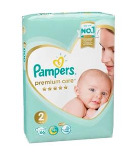 Подгузники Premium Care Mini (4-8 кг) Экономичная Упаковка 66 PAMPERS