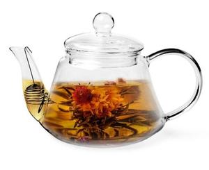 9450 Чайник заварочный Fissman 1000мл со стальным фильтром (стекло)