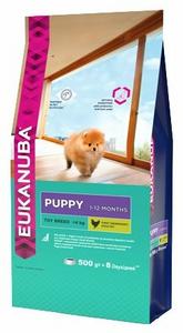 Сухой корм для щенков Eukanuba (0.5 кг) Dog Puppy Toy Breed 500 г (для мелких пород) ( 5 шт. в уп.)