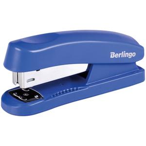 """Степлер №24/6, 26/6 Berlingo """"Universal"""" до 30л., пластиковый корпус, синий"""
