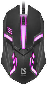 Мышь проводная Defender Сyber MB-560L черный