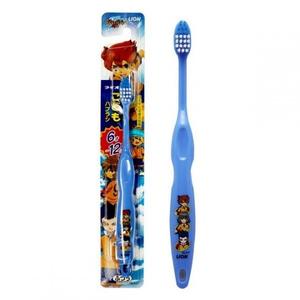 """Детская зубная щетка """"Аниме - Самураи"""" (от 6 до 12 лет, средней жесткости) LION"""
