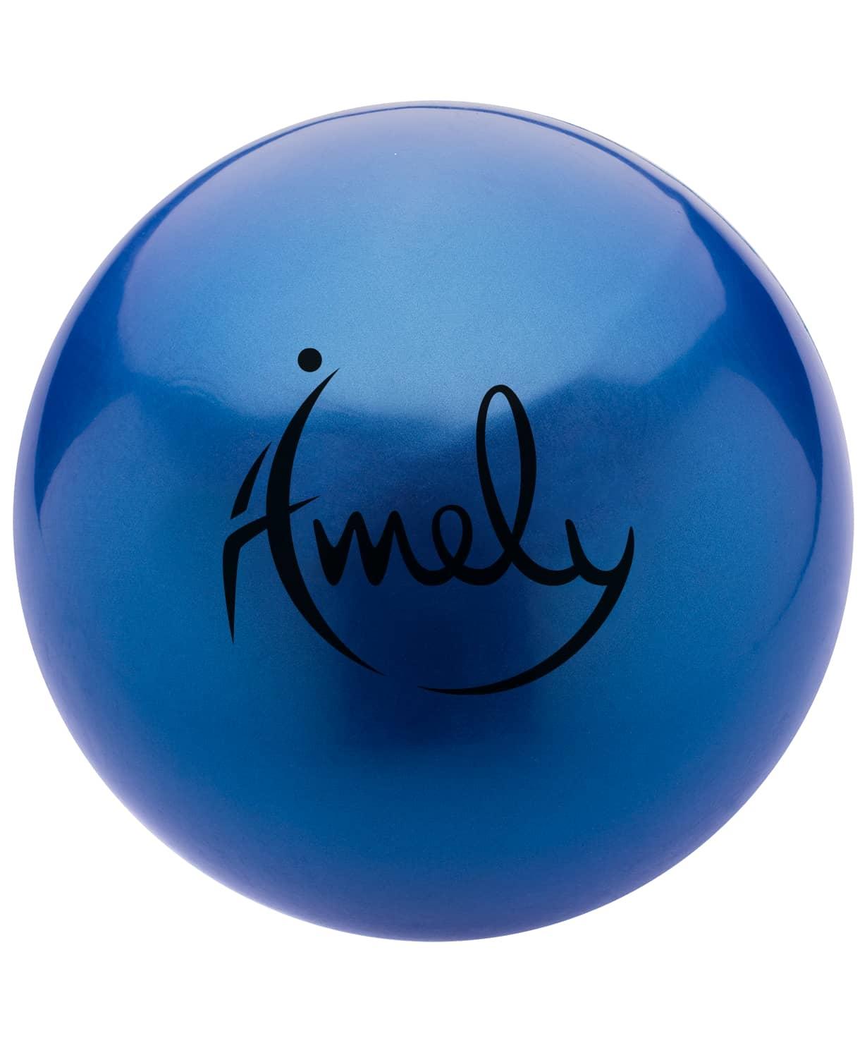 Мяч для художественной гимнастики Amely AGB-301 19 см, синий