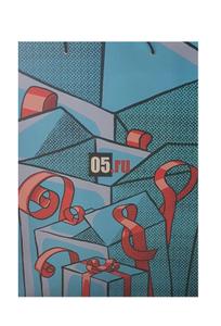 Пакет бумажный, меловка 200гр, мат.лам, 30х40х12, СМУК+0 (05.ру НГ)
