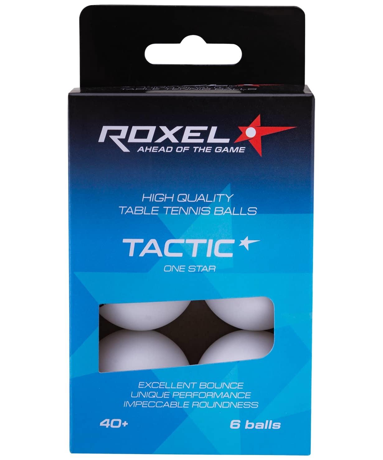 Мяч для настольного тенниса 1* Tactic, белый, 6 шт.