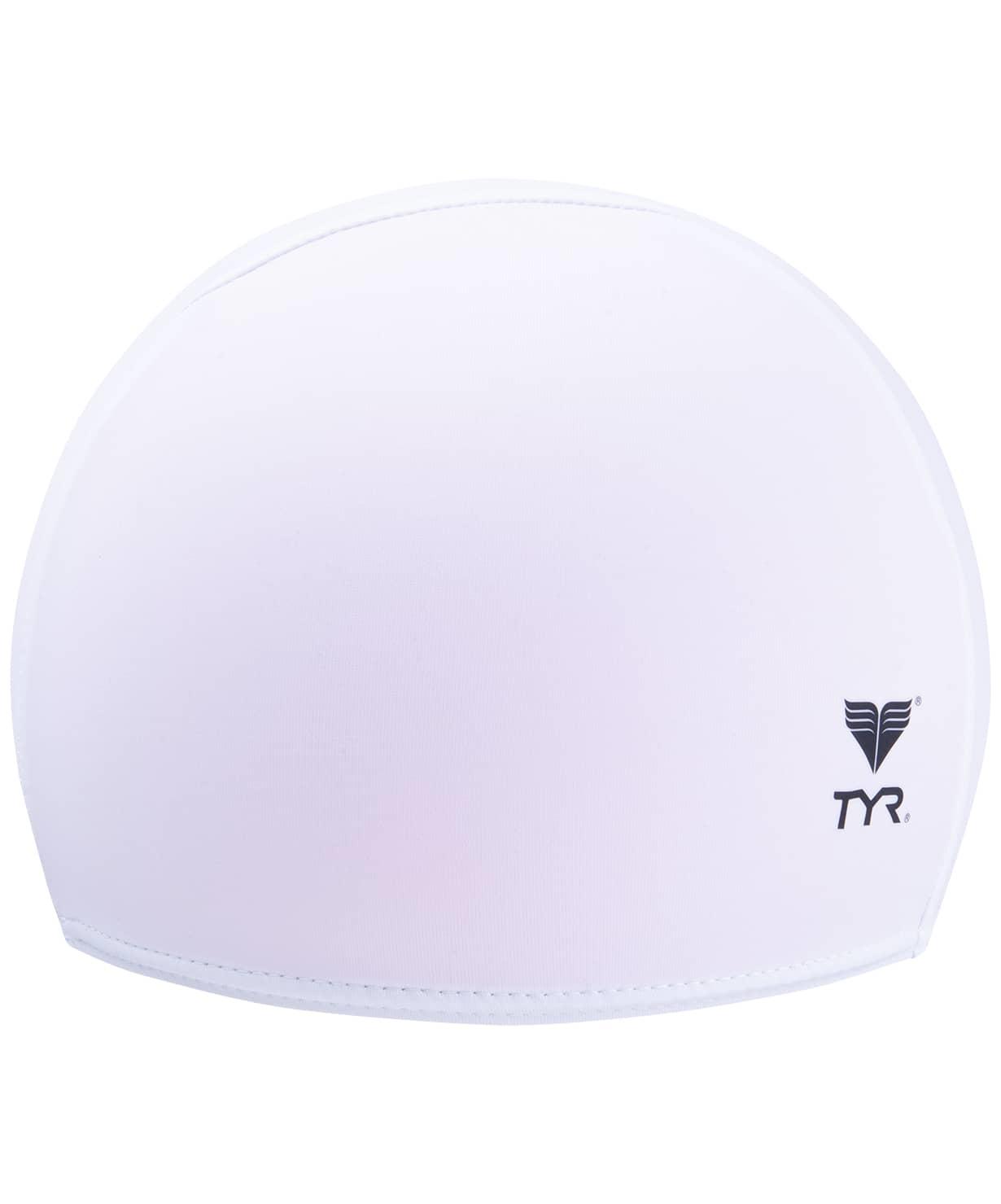 Шапочка для плавания Solid Lycra Cap LCY/100, лайкра, белый