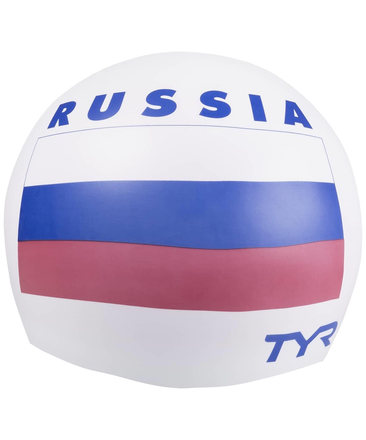 Шапочка для плавания Russia Silicone Swim Cap, силикон, LCSRUS/100, белый