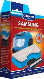 1111 FSM 45 Topperr Kомп фильтр д/пылес SAMSUNG SC43..(с 2011г), 44..,45..,47..,VCDC20.(DJ63-00669A)