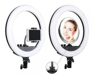 LED Лампа RL-12 II 35cm + зеркало + штатив (Черный)