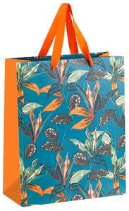 "Пакет подарочный 26*32*12см MESHU ""Tropical forest"", матовая ламинация"