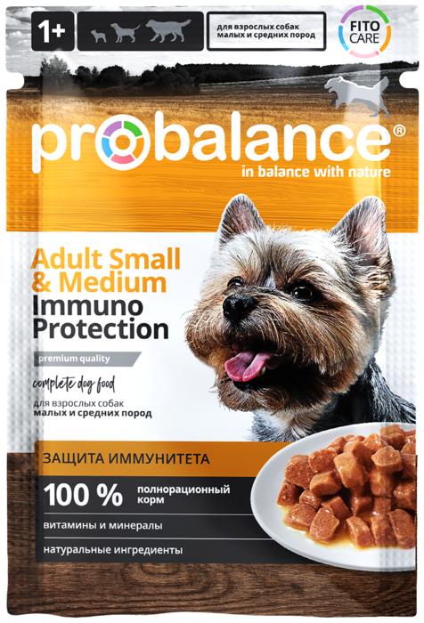 """Влажный корм для собак ProBalance """"Immuno Protection"""" для маленьких и средних пород 25 шт. х 100 гр."""