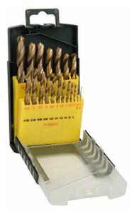 Набор сверл Bosch HSS-TiN (2607017152) по металлу (19пред.) для перфораторов