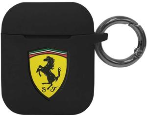 Чехол Ferrari для Airpods Silicone case with ring Black