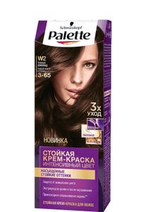 Краска для волос №W2 (3-65) тёмный шоколад Palette