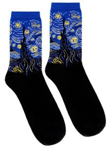 """Дизайнерские носки серии полотна великих """"Звездная ночь"""" Винсент Ван Гог"""