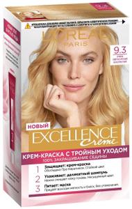 Крем-краска для волос Excellence 9.3 Очень светло-русый золотистый L'Oreal Paris