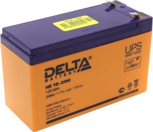 Аккумулятор Delta HR 12-34W (12V, 9Ah) для UPS