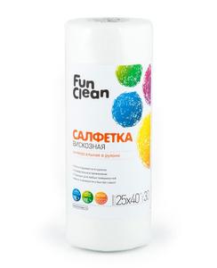 Салфетка из вискозы универсальная 25*40см/30шт Fun Clean