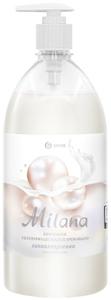 Жидкое крем-мыло Milana жемчужное с дозатором 1000мл Grass