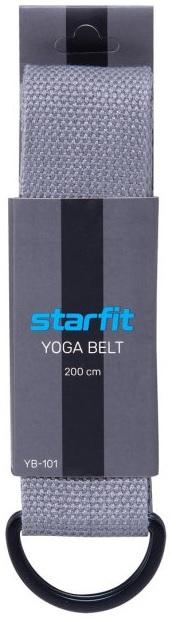 Ремень для йоги STARFIT YB-101,200 см, серый