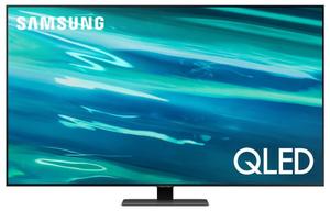 "Телевизор Samsung QE65Q80AAUXRU 65"" (165 см) серый"