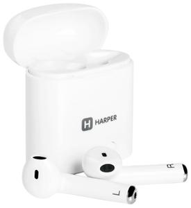 Наушники с микрофоном HARPER HB-508 White  (Bluetooth 4.2), после ремонта