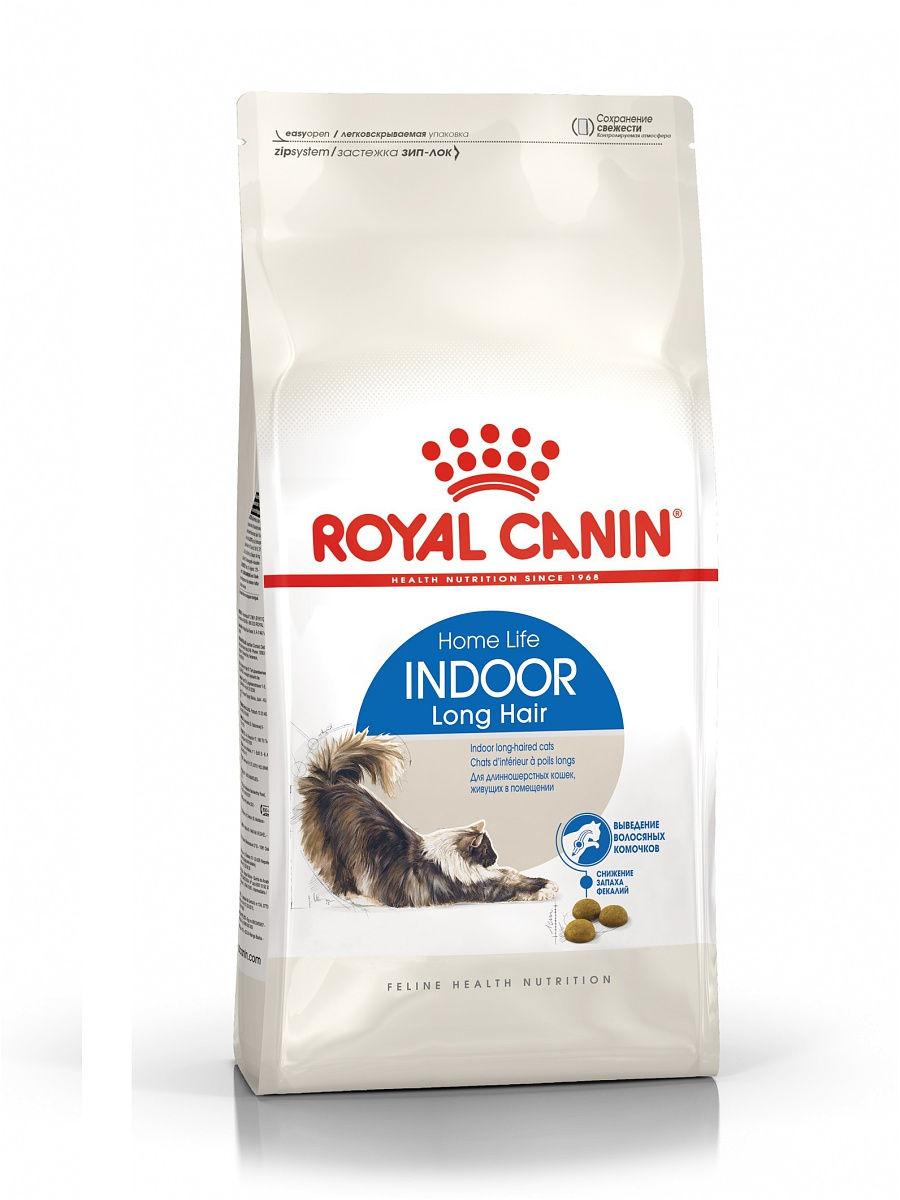 Royal Canin Indoor Long Hair корм сухой для длинношерстных кошек в возрасте от 1 до 7 лет, живущих в помещении, 2 кг