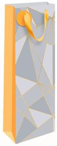 """Пакет подарочный 12*36*8,5см Арт и Дизайн """"Орнамент"""", ламинированный, фольга, под бутылку"""