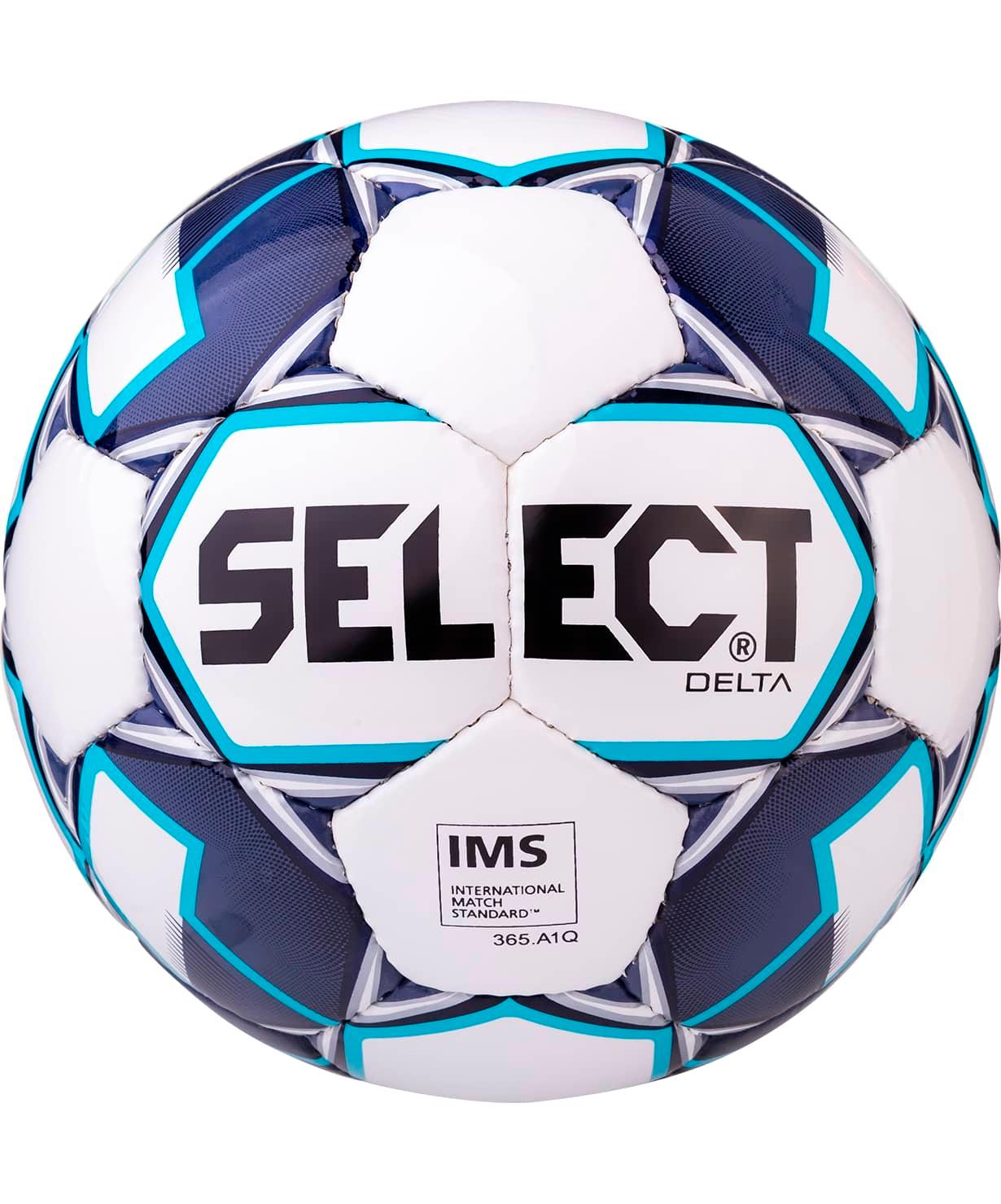 Мяч футбольный Delta IMS 815017, №5, белый/темно-синий/голубой