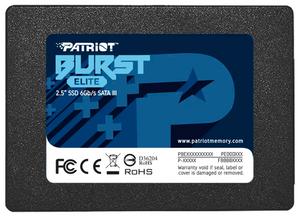 Накопитель SSD Patriot Memory Burst Elite [PBE120GS25SSDR] 120 ГБ