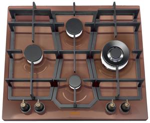 Газовая варочная панель Korting HG 631 CTRC коричневый