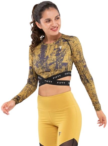 Женская футболка с длинным рукавом Sand Marble FA-WL-0205-389, с принтом